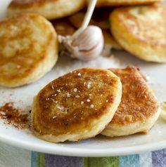 Krumplislangos (hungarian potato cakes)