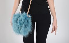 Handbag of Coyote Fur. Available for wholesale orders.