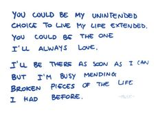Muse-unintended my favourite song if all time listen to it yourself it just goes into your soul and you feel like your floating somewhere ....no joke