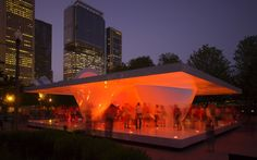 Burnham Pavilion by UNStudio    Millenium Park, Chicago, USA, 2009   (Why didn't I see this when I was there? Next time, sleep be damned!)