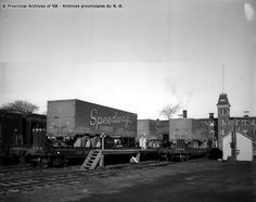 Provincial Archives of New Brunswick National Rail, York Street, Rolling Stock, New Brunswick, Train Station, Back In The Day, Trailers, Buildings, Archive