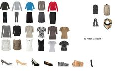 Minimalist Capsule Wardrobe: Capsule 1: 33 Pieces (300 Outfits)