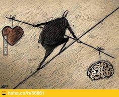 Een goed evenwicht vinden tussen verstand en gevoel.