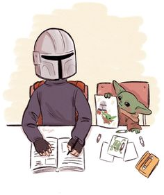 The Mandalorian and bb Yoda fan art - Star wars - Zeichnung Star Wars Fan Art, Reylo, Tableau Star Wars, Star Wars Zeichnungen, Yoda Meme, Chewbacca, Star Wars Humor, Cute Disney, Clone Wars