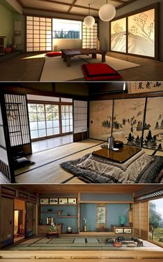 Awesome Modern Japanese Living Room Ideas - My Little Think Japanese Style Bedroom, Japanese Living Rooms, Japanese Style House, Traditional Japanese House, Japanese Interior Design, Japanese Design, Japanese Homes, Japanese Home Decor, Traditional Homes