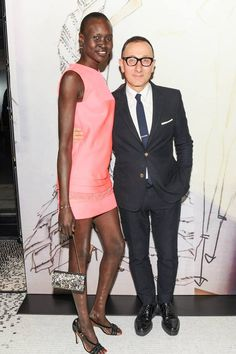 J. MENDEL Celebrates the Opening of New Madison Avenue Boutique and Collaboration with Enoc Perez  Gilles Mendel, Alek Wek  www.jmendel.com