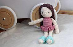 Crochet doll soo cute with these minty legwarmers