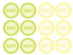 Here's another set of cupcake toppers for your baby shower! All you need are Craft Glue Dots and toothpicks or wooden stir sticks to put them together!