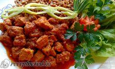 Vörösboros, áfonyás vaddisznópörkölt Pork, Food And Drink, Chicken, Cooking, Sweet, Ethnic Recipes, Cook Books, Kale Stir Fry, Kitchen