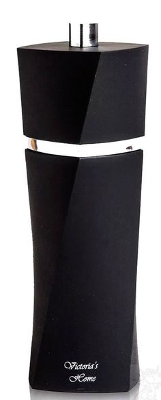 Pepper Mill Black Manual Grinder Soft Feel Easy Grip Victoria's Home New #VictoriasHome