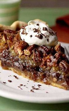 Millionaires Chocolate Pecan Pie - This dessert pie, layered with chocolate, coconut, and pecans, tastes like a million dollars!