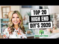 20 HIGH END DOLLAR TREE DIYs - ROOM DECOR Inspired by HIGH END DECOR - YouTube