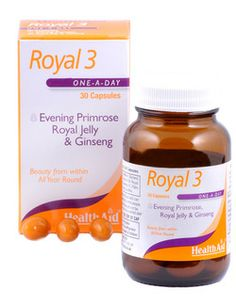 Health Aid Royal 3 (EPO, Royal Jelly & Ginseng) 30 Caps BEST BEFORE DATE 31.03.2014