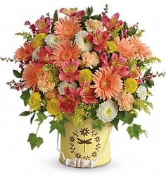 Country Spring Bouquet in Metairie LA, Villere's Florist
