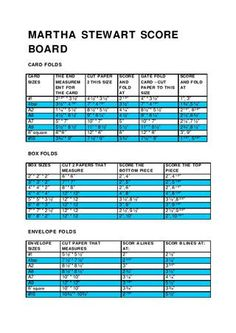 Measurements for the Martha Stewart Scoring Board