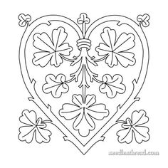 Heart: Branching Out – Free Hand Embroidery Pattern – Needle'nThread.com