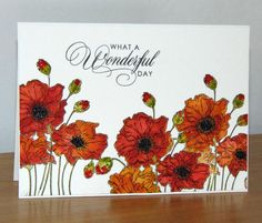Mes fleurs préférées... Poppies Penny Black by Micheline Jourdain - Cards and Paper Crafts at Splitcoaststampers