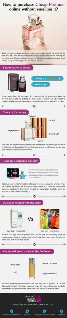 How to purchase Cheap Perfume online without smelling it? [Infographic]