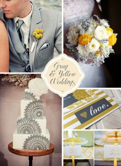 yellow and grey wedding | yellow-and-gray-weddings