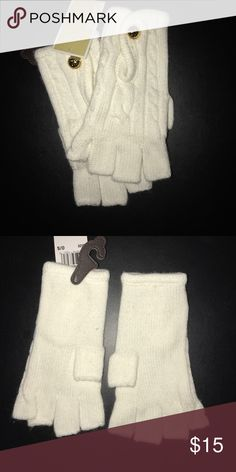Michael Kors Gloves Never worn, excellent condition. Slight off white color. Michael Kors Accessories Gloves & Mittens