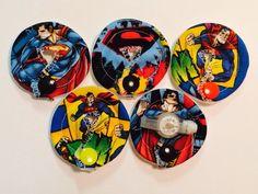 5 Superman Gtube pads Gtube covers feeding tube  by MyTubiescloset, $12.00