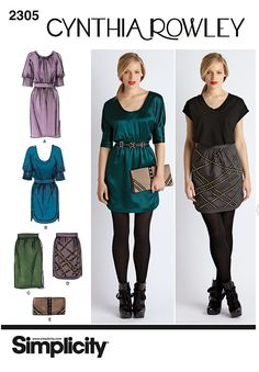 Cynthia Rowley dress pattern; $10.15: http://www.simplicity.com/p-5374-misses-dresses-skirt-purse-cynthia-rowley-collection.aspx