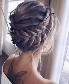 Gorgeous updo Hairstyles For A Romantic Bride – Beautiful texture bridal updo . - Gorgeous updo Hairstyles For A Romantic Bride – Beautiful texture bridal updo hairstyle,Textured - Bridal Hair Updo, Wedding Hairstyles For Long Hair, Wedding Hair And Makeup, Bride Hairstyles, Hairstyle Ideas, Messy Updo Hairstyles, Short Hairstyles, Updos With Braids, Gorgeous Hairstyles