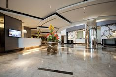 Spacious and elegantly styled lobby and reception