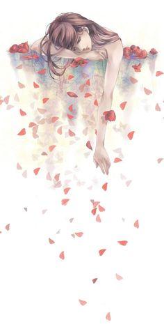 Kunst Zeichnungen - Tags: Anime, Pixiv, Pixiv Id 3508281 - Best Art Pins Art Anime Fille, Anime Art Girl, Anime Girls, Art And Illustration, Art Sketches, Art Drawings, Drawing Drawing, Sad Girl Drawing, Colour Drawing
