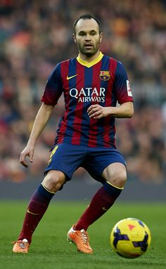 Andres Iniesta of FC Barcelona in action during the La Liga match between FC Barcelona and Valencia CF at Camp Nou on February 1, 2014 in Barcelona, Catalonia.