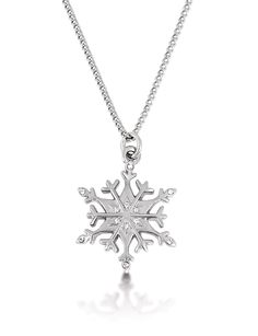 Disney Couture Frozen White Gold Plated Snowflake Necklace *** Read more info by clicking the link on the image. #Necklaces