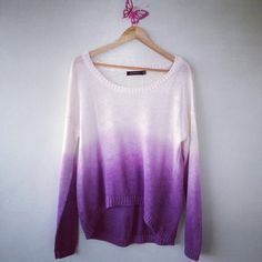 ombreyed sweater