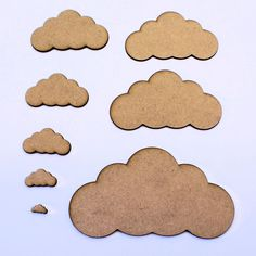 Cloud (symmetrical) Craft Shapes, Embellishments, Decorations, 2mm MDF Wood in Crafts, Woodworking | eBay