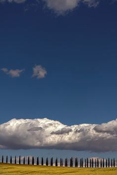 Under the cloud, Tuscany, Italy