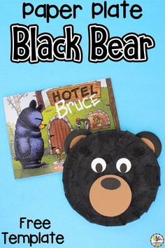 It's National Black Bear Day! To celebrate, read your favorite fiction or non-fiction book about black bears and create this simple Black Bear Paper Plate Craft for kids. Cutting and gluing while crafting is a great way for kids to work on developing their fine motor skills, finger muscle strength, coordination, and more! Click on the picture to learn how to make this book inspired craft!  | Animal Crafts for Kids  #craftforkids #paperplatecraft Paper Animal Crafts, Sea Animal Crafts, Paper Plate Crafts For Kids, Animal Crafts For Kids, Toilet Paper Roll Crafts, Easy Paper Crafts, Crafts For Kids To Make, Toddler Crafts, Book Crafts