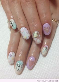 Look under shit on YouTube and nails in kawaii patent makeup video
