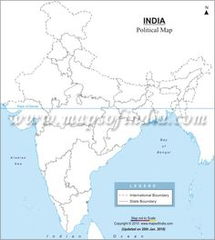india physical map blank pdf