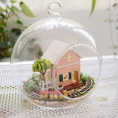 Beautiful Hot Diy Glass Ball 3d Miniature Assemble Model Creative Diary Building Dollhouse Kits With Fantasy Funitures Festival Gifts Architecture/diy House/mininatures