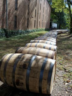 Bourbon barrels at Woodford Reserve in Kentucky