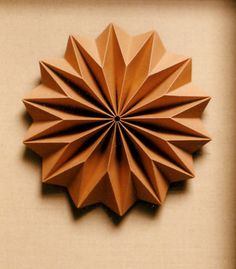 folded paper sculpture