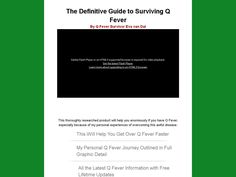 Try Q Fever Away - The Definitive Guide To Surviving Q Fever Now- http://www.vnulab.be/lab-review/q-fever-away-the-definitive-guide-to-surviving-q-fever
