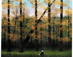 Border Collie Dog EARLY FALL Large art print of Todd Young painting