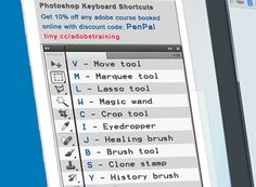 Photoshop Toolbar cheat sheet