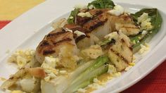 Grilled Caesar Salad with Seas Scallops - Let's Dish-Live Well Network.
