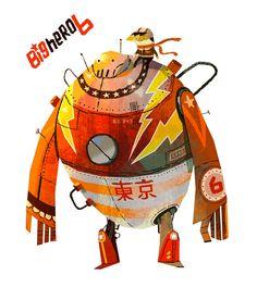 Novas artes de Kevin Dart para Big Hero 6! | THECAB - The Concept Art Blog
