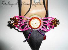Kondylatos shoe ornaments - accessories  Vassilis Zoulias high heels decorated by Pericles Kondylatos brooches.