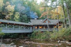 Smithgall Woods State Park located on 61 Tsalaki Trail | Helen, GA 30545 | 706-878-3087 | Duke's Creek, a top trout stream in Georgia, runs through this 5,664-acre property just outside Helen. Well-appointed cabins, some with hot tubs, can be rented for romantic getaways. http://gastateparks.org/SmithgallWoods