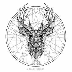 Stag geometric - Black linework #geometric #design #sketch #sketching #drawing #ink #lineart #art #animal #creative_instaarts #worldofartists #iglobalpics #moanart #arts_help #arts_gallery...