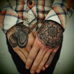 Hand tattoos. guyletatooer: tattoo portfolio ©