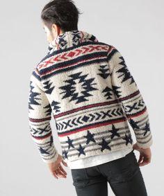 商品詳細イメージ Cowichan Sweater, Men Sweater, Knitting Projects, Aztec, Christmas Sweaters, Men's Fashion, My Style, Prints, Moda Masculina